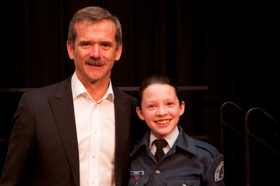 41 Cadets Meeting Commander Chris Hadfield